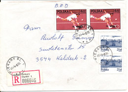 Poland Registered Cover Sent To Germany 8-4-1985 Topic Stamps - 1944-.... Republic