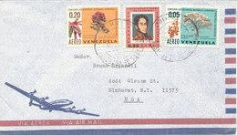 Venezuela Air Mail Cover Sent To USA 1961 - Venezuela