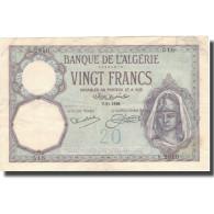 Billet, Algeria, 20 Francs, 1928, 1928-11-07, KM:78b, TTB+ - Algérie