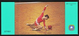Germany 1984 / Olympic Games Los Angeles, Gymnastics / Sport Help, Sporthilfe /  Markenheftchen, Booklet, Carnet MNH - Verano 1984: Los Angeles