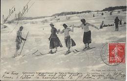 MOREZ JURA Concours International De Skis.Un Gracieux Trio - Morez