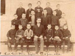 86Cps  Grande Photo (16.5cm X 12.5cm) 34 Beziers Ecole Louis Blanc En 1892 - Beziers