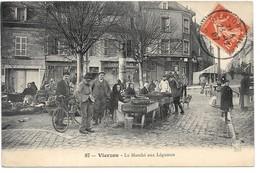 Cpa....Vierzon....le Marché Aux Légumes.....animée...1907.... - Marchés