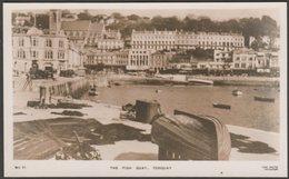 The Fish Quay, Torquay, Devon, C.1930s - Cox RP Postcard - Torquay