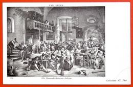 140251 Jan STEEN ~  MUSIC Instrument Dance BREASTFEEDING Mother Child CHAMBER POT (?) ~ Art Painting ANTIQUE Postcard - Malerei & Gemälde