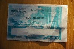 Rationnement - Bon Matiere Bois Pour Allemand - Documents Historiques