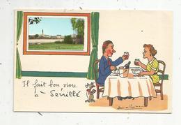 Cp, 86 , SENILLE ,  Vienne , Il Fait Bon Vivre à SENILLE , Illustrateur Jean De PREISSAC , Vierge - France