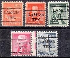 USA Precancel Vorausentwertung Preo, Locals Texas, Lamesa 716, 5 Diff. - Vereinigte Staaten