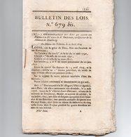 BULLETIN DES LOIS N° 679 BIS  DE 1824 -  34 PAGES - Décrets & Lois