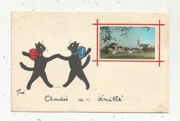 Cp, 86 , SENILLE ,  Vienne , Amitiés De  SENILLE , Illustrateur Jean De PREISSAC , Vierge - France