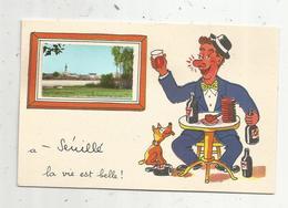 Cp, 86 , SENILLE ,  Vienne , à SENILLE La Vie Est Belle ! , Illustrateur Jean De PREISSAC , Vierge - France