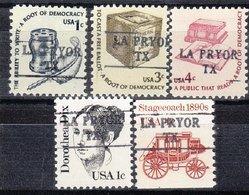 USA Precancel Vorausentwertung Preo, Locals Texas, La Pryor 882, 5 Diff. - Vereinigte Staaten