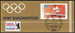 Germany 1988 / Tennis / Sport Help, Olympic Sporthilfe / Markenheftchen, Booklet, Carnet MNH - Tenis