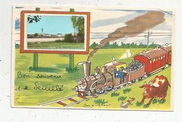 Cp, 86 , SENILLE ,  Vienne , Bon Souvenir De SENILLE  , Illustrateur Jean De PREISSAC , Vierge - France