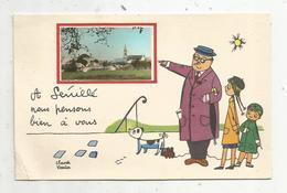 Cp, 86 , SENILLE ,  Vienne , Bon Souvenir De SENILLE  , Illustrateur Claude VERRIER , Vierge - France
