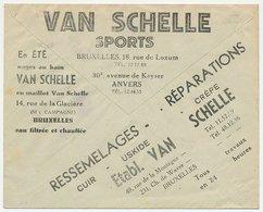 Postal Cheque Cover Belgium 1931 Sportswear - Non Classificati