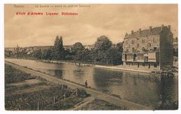 CPA Rare : NAMUR La Sambre En Amont Du Pont De Salzinnes - Publicité Elixir D'Anvers - Namur