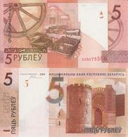BELARUS 5 Rubles P 37 Replacement XX Serial 2009 ( 2016 )  UNC - Bielorussia