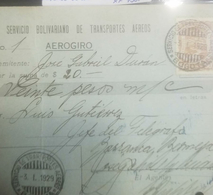 O) 1929 COLOMBIA, SCADTA 60c- SCT C45, AEROGIRO -ENTERO POSTAL CIRCULADO OF 20 PESOS, FROM BOGOTA TO BARRANCABERMEJA-EXT - Colombie