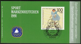 Germany 1991 / Cycling / Sport Help, Olympic Sporthilfe / Markenheftchen, Booklet, Carnet MNH - Cyclisme