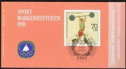 Germany 1991 / Weightlifting / Sport Help, Olympic Sporthilfe / Markenheftchen, Booklet, Carnet MNH - Haltérophilie