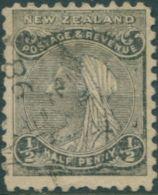 New Zealand 1882 SG227 ½d Black QV FU - 1855-1907 Crown Colony