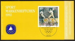 Germany 1992 / Olympic Games Barcelona, Fencing / Sport Help, Sporthilfe /  Markenheftchen, Booklet, Carnet MNH - Verano 1992: Barcelona