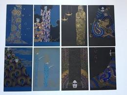 Art Nouveau - Vittorio Zecchin - Serie Smalti & Murrine Completa Di 8 Cartoline - Illustratori & Fotografie