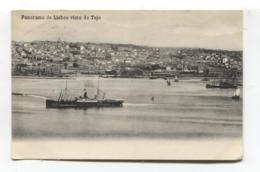 Panorama De Lisboa Visto Do Tejo - Lisbon - 1909 Used Postcard - Lisboa