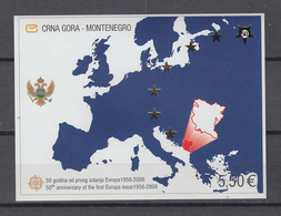 Montenegro.  Block 3  ** ,  50 Jahre Europamarken - Montenegro