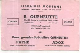 Buvard Librairie Moderne E. Queneutte, Creil - Vloeipapier