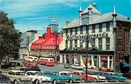 Pays Div : Ref M566- Canada - Place D Armes Rue Ste Anne Quebec - Voitures - Automobile  - Carte Bon Etat  - - Quebec