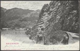 Brunnen, Schwyz, 1903 - Illustrato Luzern U/B AK - SZ Schwyz