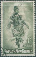 Papua New Guinea 1961 SG30 1/- Female Dancer FU - Papouasie-Nouvelle-Guinée