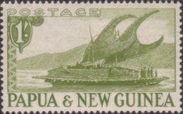 Papua New Guinea 1952 SG10 1/- Lakatoi MLH - Papouasie-Nouvelle-Guinée