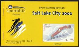 Germany 2002 / Olympic Games Salt Lake City / Ski Jump / Sport Help, Sporthilfe / Markenheftchen, Booklet, Carnet MNH - Winter 2002: Salt Lake City