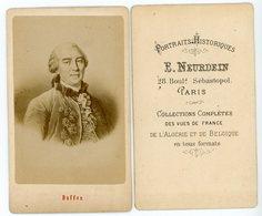 PHOTO 85mm X 55mm BUFFON. PHOTO SIGNEE DE E.NEURDEIN 28 BOULD SEBASTOPOL PARIS - Documents Historiques