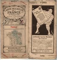 CARTE MICHELIN De La FRANCE EN 48 FEUILLES 1/200000° Début 20ème N°12 PUBLICITE Le Guide Routier Michelin De France - Roadmaps