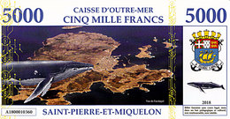Saint Pierre Et Miquelon 5000 Francs 2018 UNC - Fiktive & Specimen