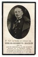 Bid Voor De Ziel - Oskar-Maurits BAGEIN - Roeselare 1920 - Juprelle 1940 - Soldat WWII - Mort Pour La Patrie - 2 Scans - Devotion Images