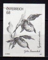 2017 Austria - Flowers - Bonus Marken Black Print  Gelber Frauenschuh MNH ** MiNr. 3328  (uu18) - 2011-... Unused Stamps