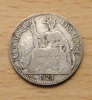 INDOCHINE 10 Cent 1923 En Argent - Colonies