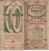 """CARTE MICHELIN De La FRANCE EN 48 FEUILLES 1/200000°  N°48 Début 20ème  PUBLICITE ROUE """"CABLE""""MICHELIN - Roadmaps"""