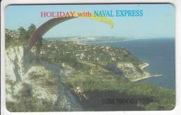 BULGARIA(chip) - Naval Express/Paraglide, Betkom Telecard 60 Units, Tirage 50000, 07/98, Used - Bulgaria