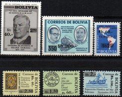 Bolivia 1984 ** CEFIBOL 1191-96 Habilitados Con Nuevo Valor. - Bolivia