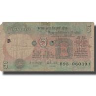 Billet, Inde, 5 Rupees, 1975, 1975, KM:80f, B - India