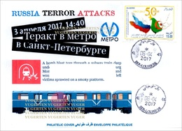 ALGHERIA 2017 Cover St Petersburg Metro Terrorist Attacks - Cancelled Date Of Attacks Terrorism Russia Subway Railways - Enveloppes