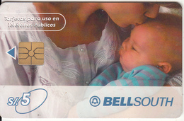 PERU - Mother And Baby, BellSouth Telecard, Chip GEM1.1, Tirage %50000, 05/00, Used - Peru