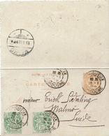 BLANC N°111 MILLÉSIMES 1 Sur Carte Postale Type Mouchon 15cts N°117-CL2 - Périlleux 23 Janvier 1902 Pour Malmö 25 Jan - 1900-29 Blanc