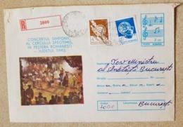 ROUMANIE Musique, Musica, Music, Entier Postal Ayant Circulé En 1988 - Musik